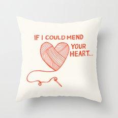 Mend Your Heart Throw Pillow