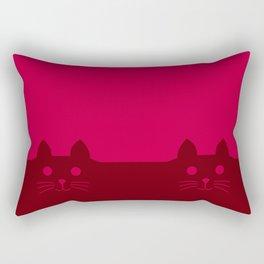 Meow Cat Red Pink Rectangular Pillow