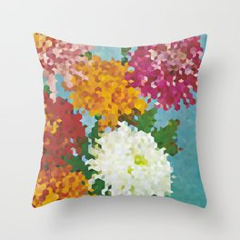 Chrysanthemums 3 Throw Pillow
