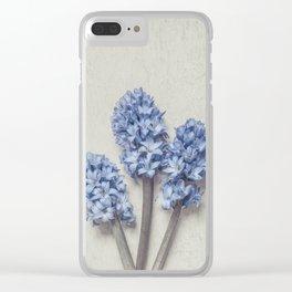 Light Blue Hyacinths Clear iPhone Case
