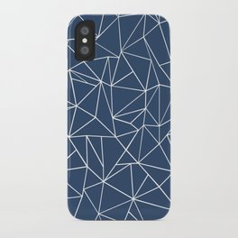 Abstraction Outline Navy iPhone Case