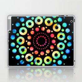 Multi-Color Mandala Tie-Dye Circle Shapes Laptop & iPad Skin