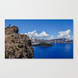 Crater Lake lookout Canvas Print