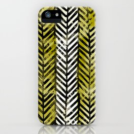 Yellow Herringbone iPhone Case