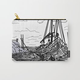 boats on the sea . artwork Carry-All Pouch