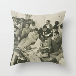 Study-in, 1970s Throw Pillow