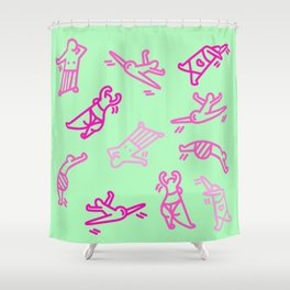 Dance In Your (Green) Pants Shower Curtain