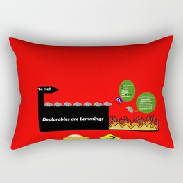 Deplorables are Lemmings Rectangular Pillow