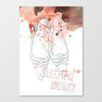 shoes Canvas Prints featuring shoes by Sabine Israel