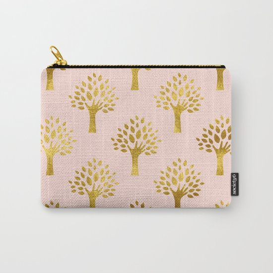 Pink Gold Foil 02 Carry-All Pouch