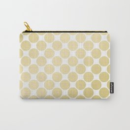 Elegant geometrical gold white gradient polka dots Carry-All Pouch