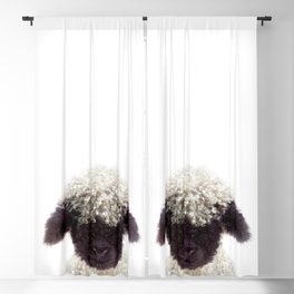 Baby Lamb, Baby Animals Art Print By Synplus Blackout Curtain