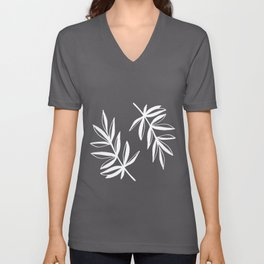White Laurels Unisex V-Neck