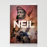 neil gaiman Stationery Cards featuring Neil. by David