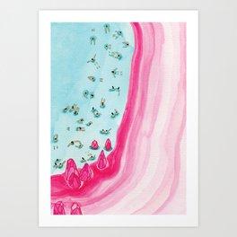 Pink beach Kunstdrucke