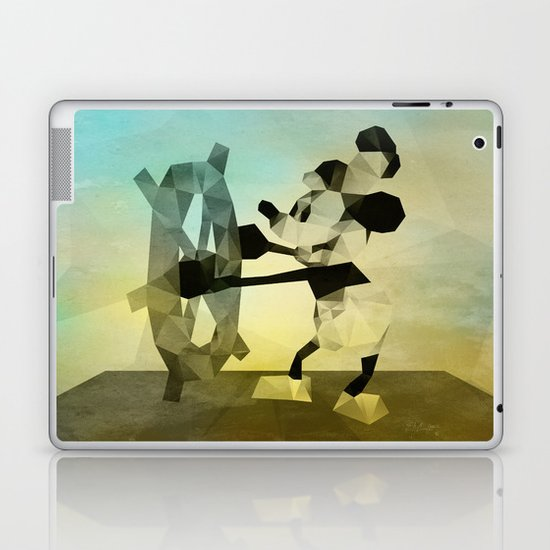 Mickey Mouse as Steamboat Willie Laptop & iPad Skin