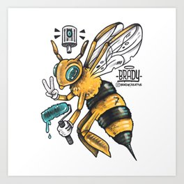 Peace BEE Art Print