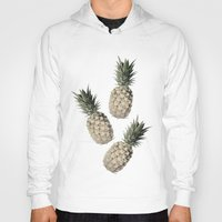 pineapples Hoodies featuring Cheers Pineapples by Yilan