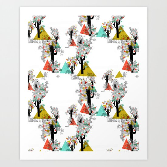 Tree Triangles Art Print