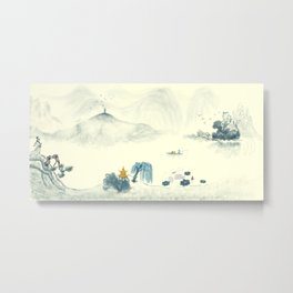 fairyland Chinese  landscape Ink  painting Metal Print