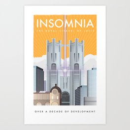 Insomnia (Final Fantasy XV) Travel Poster Art Print