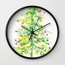 Fa La La La Tree Wall Clock
