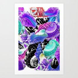 Conchas colors Art Print