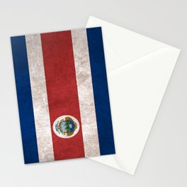 Costa Rica Flag (Vintage / Distressed) Stationery Cards