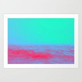 Neon Sea Art Print