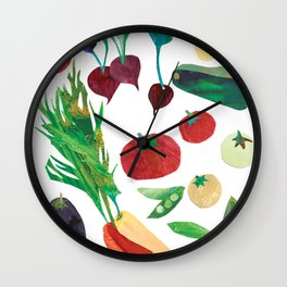 Love Your Veg Wall Clock