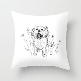 Cute Doggy Throw Pillow