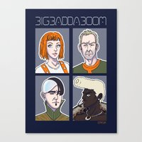 fifth element Canvas Prints featuring Fifth Element by enerjax