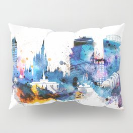 Watercolor Orlando skyline design Pillow Sham