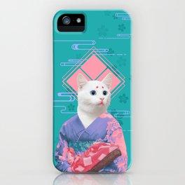 Geisha cat 02 iPhone Case