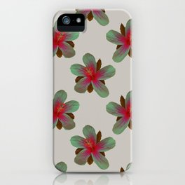 Glowing Hibiscus iPhone Case