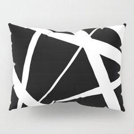 Geometric Line Abstract - Black White Pillow Sham