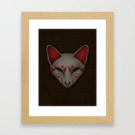 Kitsune Kabuki Framed Art Print