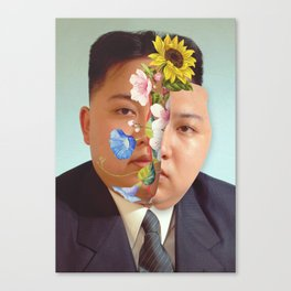 Kim Jong Un - Photo Manipulation Canvas Print