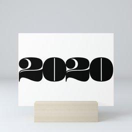 2020 Year   Typography   Horizontal Mini Art Print