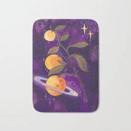 Space orange Bath Mat
