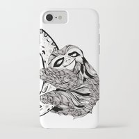 sloth iPhone & iPod Cases featuring Sloth  by Animaux Circus