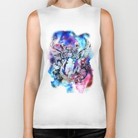 marc johns Biker Tanks featuring Marc Bolan - Cosmic Dancer by FlowerMoon Studio