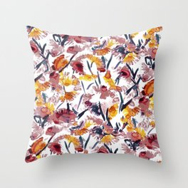 new floral Throw Pillow