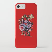 dragon iPhone & iPod Cases featuring Dragon by Spooky Dooky