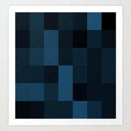 Midnight  Blue Design Art Print