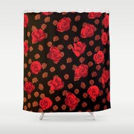 dark roses Shower Curtain