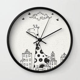 Lost in City Wall Clock