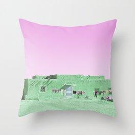 Moroccan Dar in Green Throw Pillow