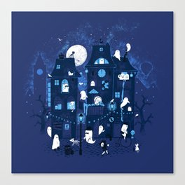 Midnight in Ghost Town Canvas Print