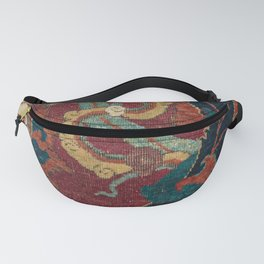 Flowery Arabic Rug III // 17th Century Colorful Plum Red Light Teal Sapphire Navy Blue Ornate Patter Fanny Pack
